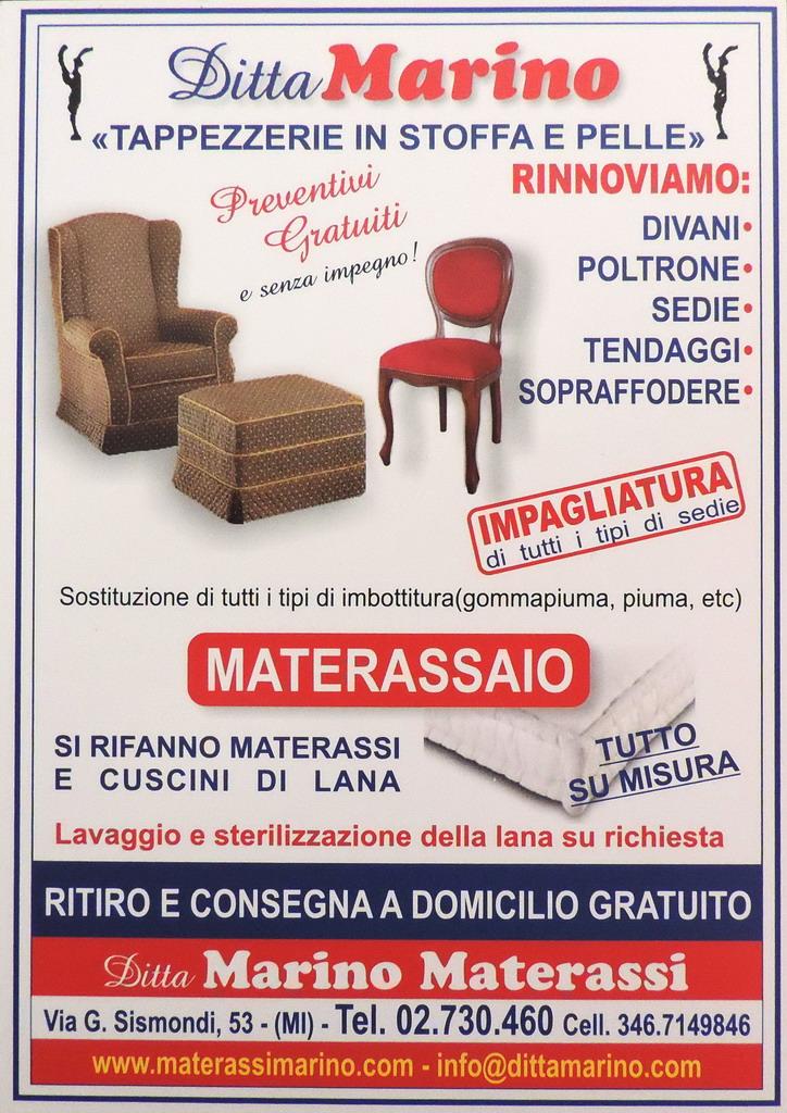 Ditta Marino Materassi Tappezziere in stoffa Milano