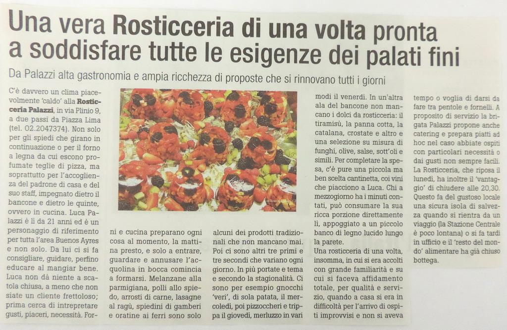 Rosticceria Palazzi, la rosticceria di una volta