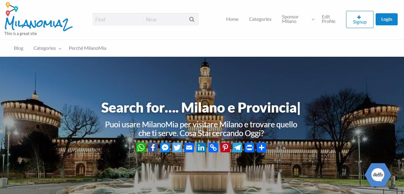 Milanomia2.com Home Page