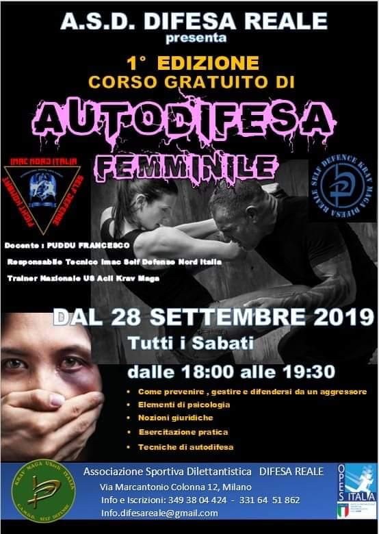 ASD Difesa Reale Milano corsi di arti marziali e fitness
